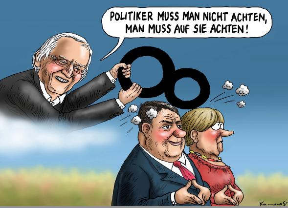 Cartoon Dieter Hildebrandt (© Marian Kamensky, http://www.humor-kamensky.sk)